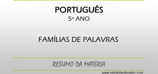 Português 5º ano - Família de palavras