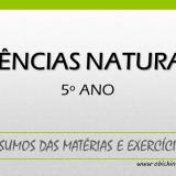 Ciências Naturais 5º ano