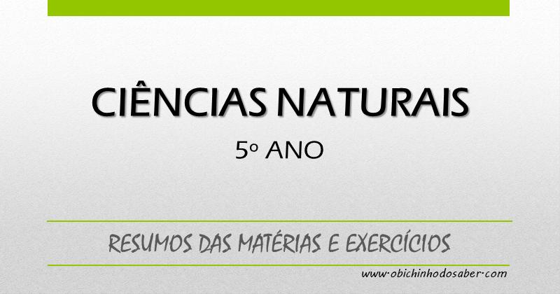 Amado Matéria de Ciências Naturais do 5º ano - Resumos e exercícios BQ18