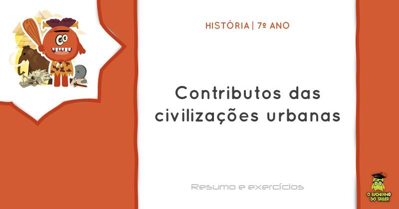 Contributos das civilizações urbanas