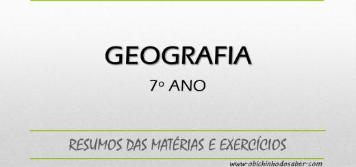 Geografia 7º ano