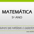 Matemática 5º ano