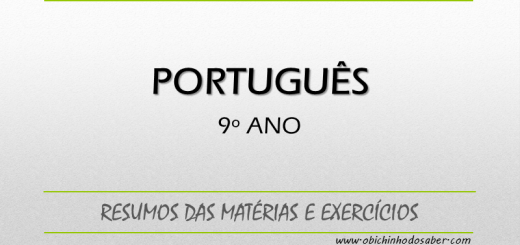 Português 9º ano