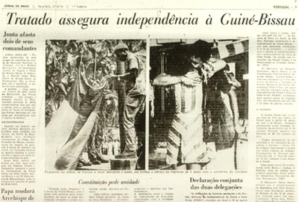 Neste dia, 10 de setembro: Portugal reconhece a independência da Guiné-Bissau