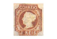 1º selo adesivo português.