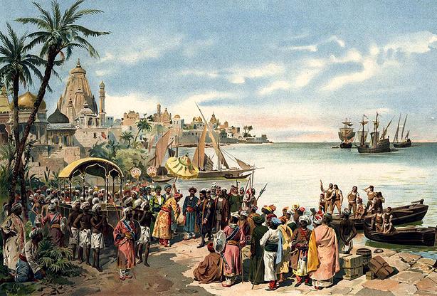 Neste dia, 20 de maio: Chegada de Vasco da Gama à índia