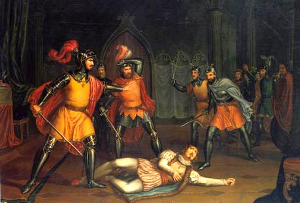 Neste dia, 6 de dezembro: Morte do conde Andeiro