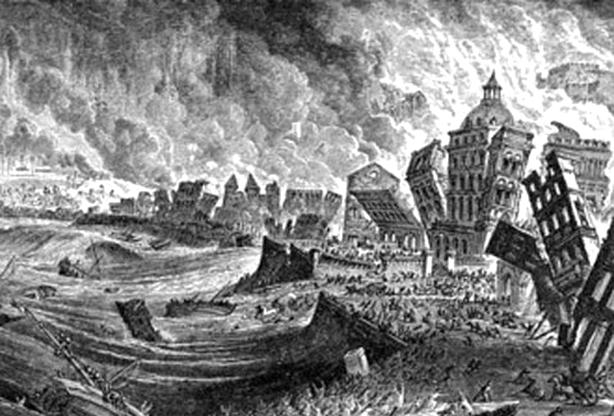 Neste dia, 1 de novembro: Terramoto de Lisboa