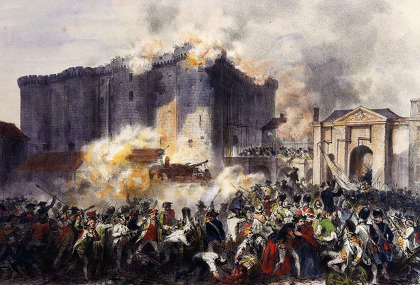 Neste dia, 14 de julho: Tomada da prisão da Bastilha