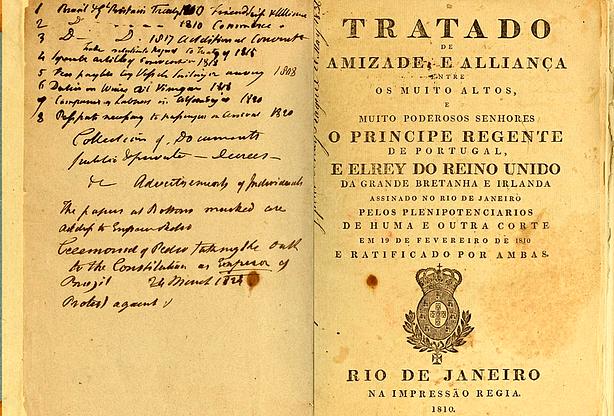 Neste dia, 19 de fevereiro: Tratados de Aliança e Amizade, de Comércio e Navegação