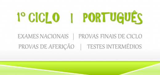1º CICLO - Português - provas finais e testes intermédios