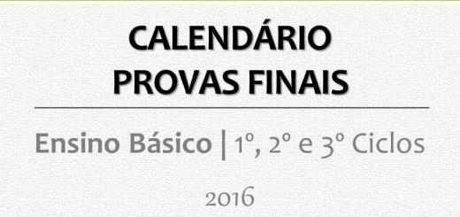 Calendário Provas Finais 2016