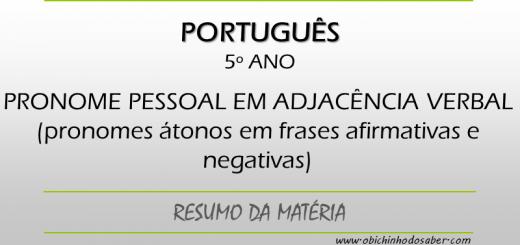Português 5º ano - Pronominalização