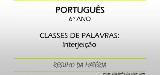 Português - 6º ANO - Interjeição