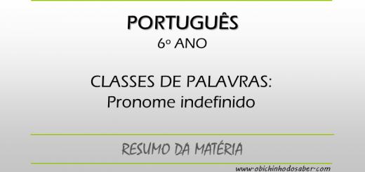 Português - 6º ANO - Pronome indefinido