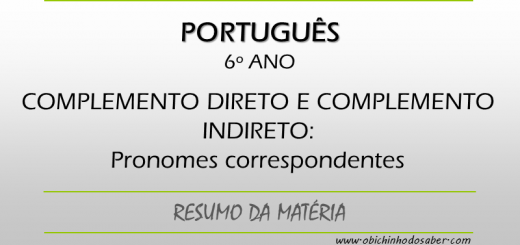 Português - 6º ANO - Pronomes átonos