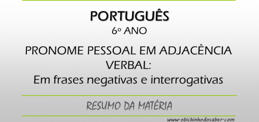 Português - 6º ANO - Pronominalização