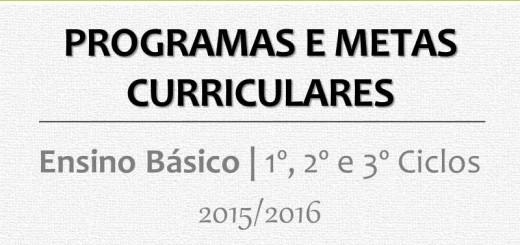 Programas e Metas Curriculares 2015 2016