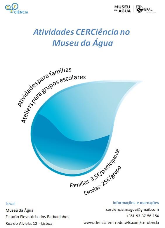 CERCiência Museu da Água folheto
