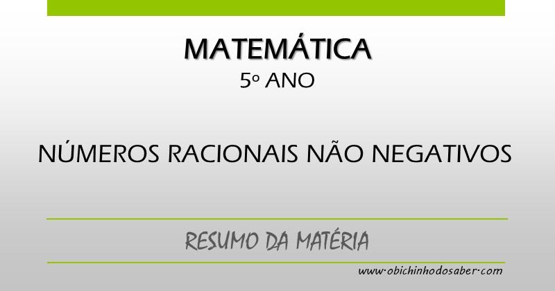 Matematica 5º Ano Numeros Racionais Nao Negativos Fracao Numeral Misto