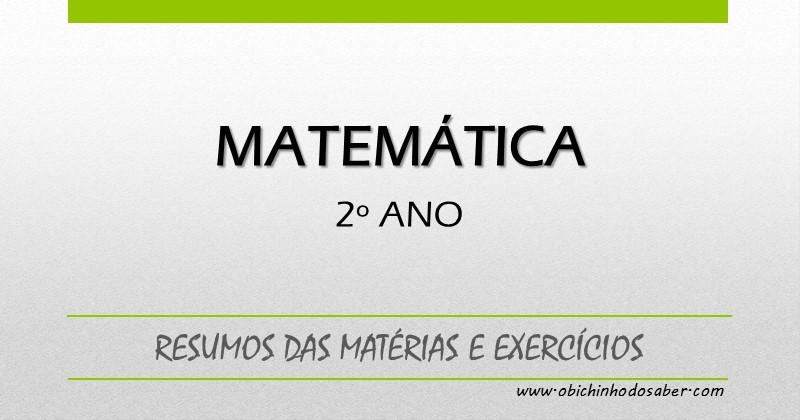 Matria de matemtica do 2 ano resumos e exerccios ccuart Image collections